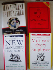4 books on Management - Like New Condition
