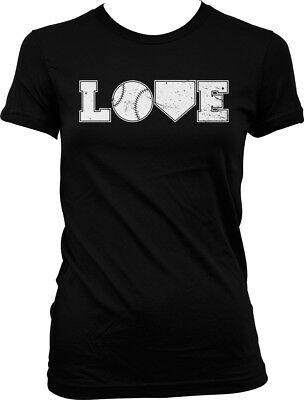 Love Baseball - Home Plate Bases Home Run Bat Ball Juniors T-shirt