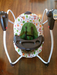 Winnie the Pooh Graco baby swing.