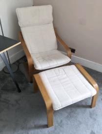 IKEA Armchair & Footstall