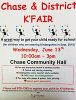 YOU are invited!! Kindergarten Health Fair 2018 CHASE