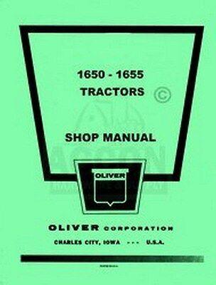 Oliver 1650 1655 Tractor Shop Service Repair Manual