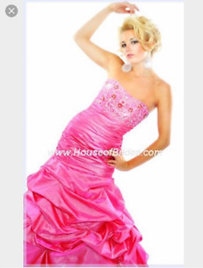 Pink Grad Ball or Prom Dress size 8