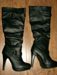 High heel fashion boots size 6