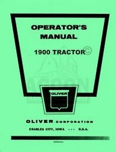 Oliver-1900-Tractor-Owners-Operators-Instruction-Manual