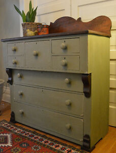 Antique Seven Drawer Bonnet Chest