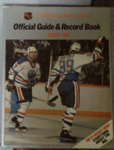1985-86 NHL Official Guide and Record book