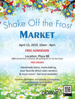 Shake Off the Frost Market - One day ONLY - Don't miss it!!