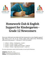 English Homework Club and Support for Newcomer Children