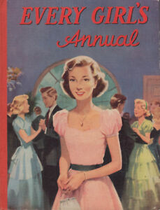 Vintage Every Girl's Annual 1950's Hard Bound Book
