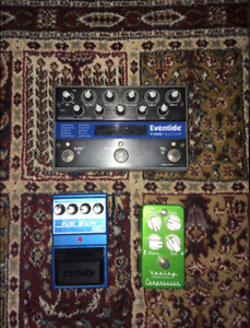Eventide Timefactor, Keeley Compressor and DOD Ice Box Chorus