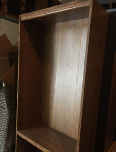 Brand New Modern Solid Oak Bookcase w/ extra shelves.