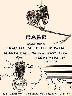Case Eagle E-7 Eh-7 Ehn-7 Ev-7 Evas-7 Edsc-7 Mower Parts Manual Vac Vah Va Sc Dc