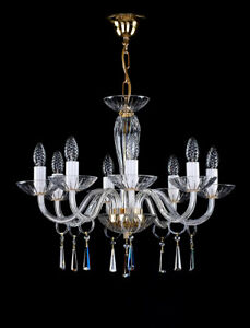 Crystal Chandelier Swarowski, VIII-Light ( 60x55 cm )