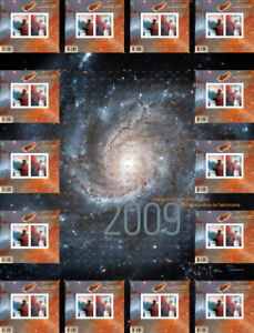 STAMPS COLLECTION - ASTRONOMY UNCUT Press Sheet Canada 2009
