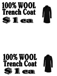WOOL ARMY TRENCH COATS