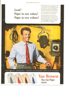 1953 full-page ad for Van Heusen Shirts, with actor Dan Dailey