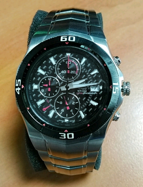644a65a9617e Casio Edifice EF-514 12HR Stopwatch  47 Alarm