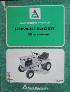 Wanted Allis-Chalmers Homesteader 8hp Tractor Operator's Manual