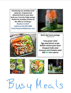 Grab n Go lunches delivered fresh, to your door weekly.