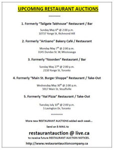 RESTAURANT AUCTION SALES...Want to find out about them ?