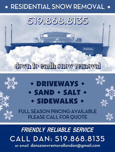 DISCOUNTED SNOW REMOVAL SERVICES!!