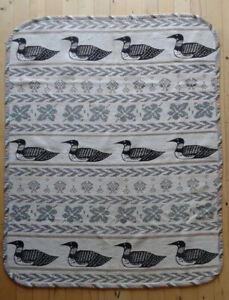 Loon blanket or chair cover