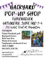 Backyard Pop-Up Shop Fundraiser