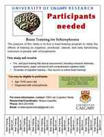 Paid research study for participants w/ history of Schizophrenia