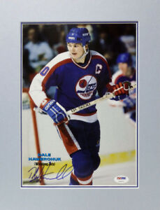 DALE HAWERCHUK JETS SIGNED PHOTO DISPLAY AUTHENTIC AUTOGRAPH
