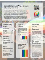 Advertise in the Saskatchewan Pride Guide