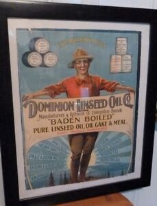 Early 1900's Dominion Linseed Oil Co., Baden Ont. Advertising