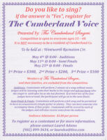 TALENT CONTEST - Presented by THE CUMBERLAND SINGERS