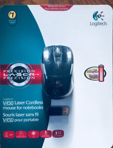 SOURIS SANS FIL * * LOGITECH V 450  * * CORDLESS MOUSE