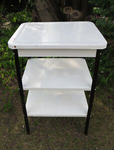 3 TIER ENAMEL KITCHEN STAND - MICROWAVE - POTS and PANS