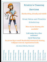 Kristin's Quality Cleaning Services- Book Today!