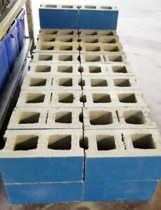 3 HOUR FIRE RATED Hollow Cinder Concrete Block GentlyUsed 8x8x16