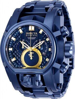 Invicta Reserve Mens Bolt Zeus Magnum 52MM Blue Tone Stainless Bracelet Watch