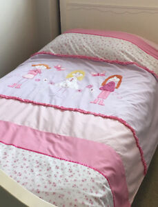 Girls Twin Duvet Cover and Sham
