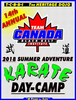 2018 KARATE Summer Adventure Day Camp!!!