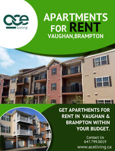 Apartments for rent Vaughan | Apartments for rent Brampton