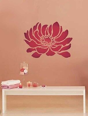 Anemone Grande Flower Wall Stencil - Easy To Use Stencils For Diy Home Decor