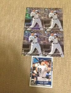 5 Aaron Judge Baseball Rookies - 4 Bowman Chrome & 1 Donruss