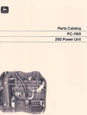 John Deere Model 292 Series Power Unit Parts Manual Catalog Jd 1168