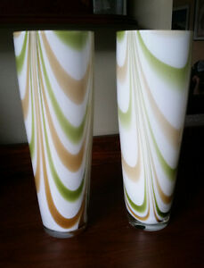 Pair of Matching Glass Vases