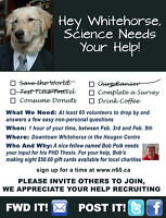 Hey Whitehorse, Science needs your help!