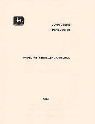 John Deere Model Fb Fertilizer Grain Drill Parts Manual Catalog Jd