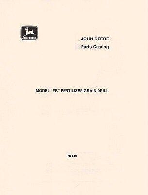 John Deere Model Fb Fertilizer Grain Drill Parts Manual Catalog Jd