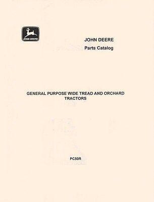 John Deere Model General Purpose Standard Wide Orchard Parts Manual Catalog Jd