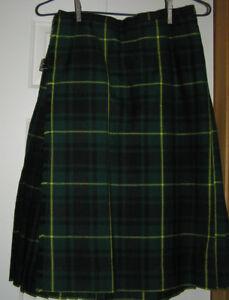 Unisex hand Crafted Regulation Wool Kilt  MacArthur Tartan